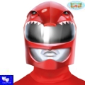 Casco rojo tipo power ranger heroe galaxia
